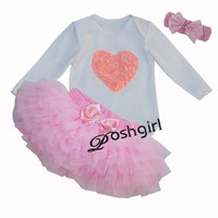 New Baby Dress For Girls Tutu Skirt Clothes Sets Bebe First Birthday Costumes Baby Word 6