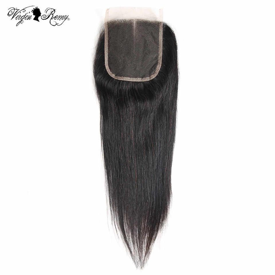 Queen Virgin remy волосы 4*4 малазийские прямые кружева закрытие 150% плотность 100% человеческие волосы закрытие свободный Средний три части закрытие