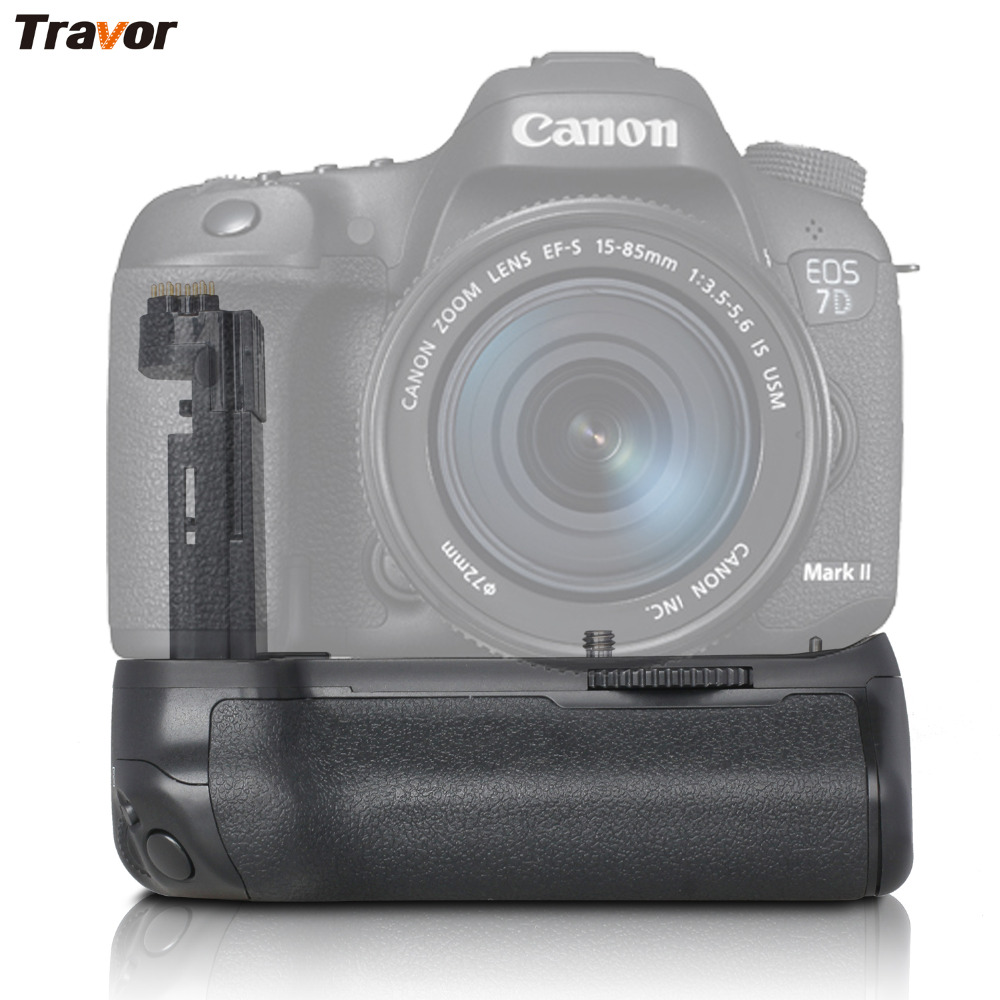 Travor Camera Vertical Battery Grip Battery Holder For Canon EOS 7D2 7D Mark II 2  DSLR Camera BG-E16 Work With LP-E6 Battery bullet camera tube camera headset holder with varied size in diameter