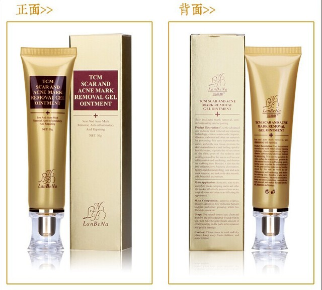 LANBENA ginseng extract against black dots cream scar removal facial blackhead acne skin care treatment, bleaching cream 30ml