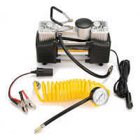 DC 12V Double Cylinder Air Pump Compressor Car Tire Tyre Inflator Kit
