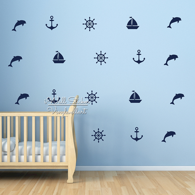 Barca a vela Ancore Stickers Murali Summer Holiday Wall Sticker ...