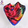 [BYSIFA] Ladies Blue Red Painting Square <font><b>Scarves</b></font> <font><b>Wraps</b></font> New Brand Women Large Square Silk <font><b>Scarf</b></font> 90*90cm Autumn Winter Warm <font><b>Scarf</b></font>