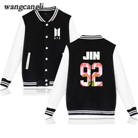 Wangcangli BTS Kpop Baseball Jacket Winter Hoodies Men Popular Bangtan Hip Hop Harajuku Hoodies Women Fashion