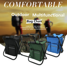 3 In 1 Outdoor Portable Multifunctional Foldable Cooler Bag Chair Backpack Fishing Stool Chair