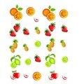 1 folhas new fruit prego de transferência da água adesivos morango abacaxi orange designs beleza prego decalque decoração ferramentas