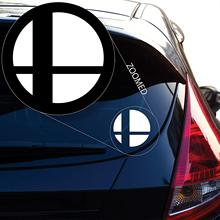 Yoonek Graphics Super Smash Bros Decal Sticker for Car Window, Laptop and More. # 524 (4