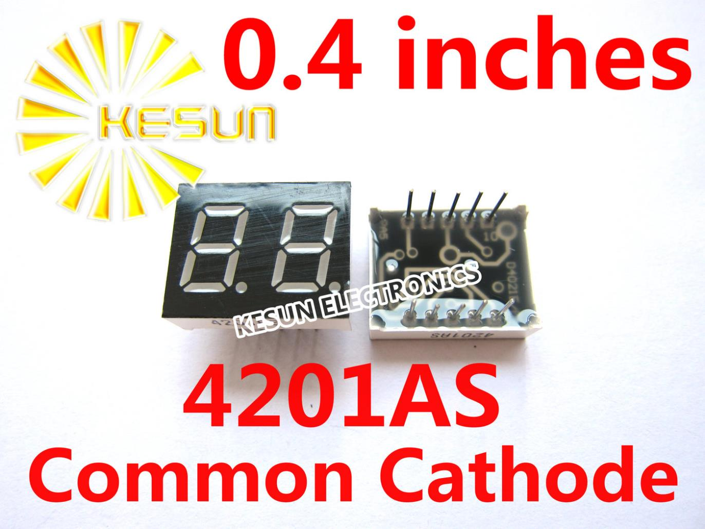 FREE SHIPPING 20PCS X 0.4 Inches Red Common Anode/Cathode 2 Digital Tube 4201AS 4201BS LED Display Module