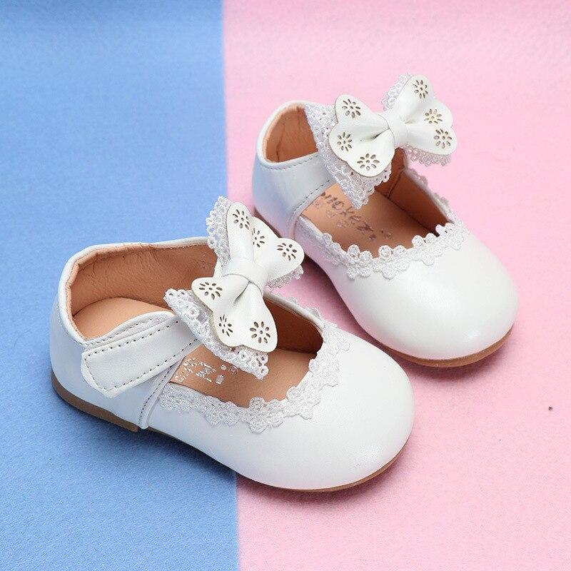 COZULMA Bebés Meninas Princesa Lace Bowtie Calçados Casuais Crianças Primavera Verão Flat Shoes Crianças Suave Sole Slip-on Sapatos tamanho 15-30