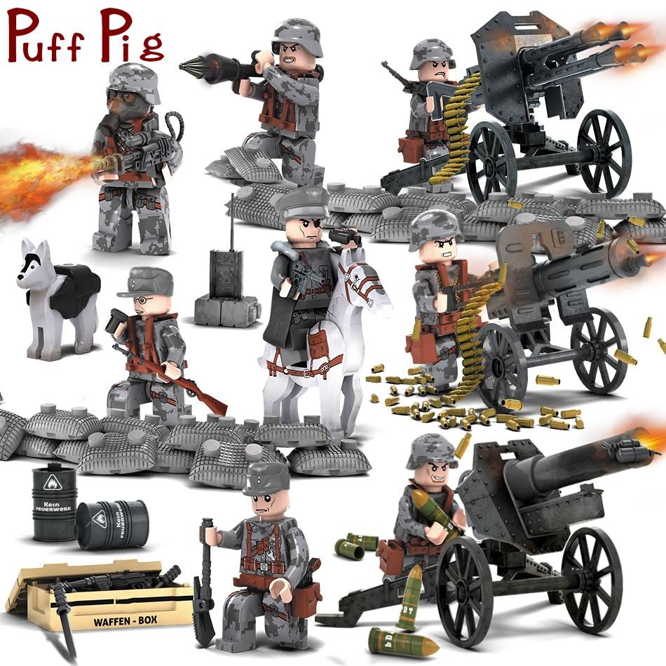 8PCS / Установить военные фигуры с - Детские конструкторы
