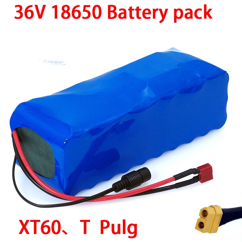 36V 18650 Lithium battery 36v 16ah Electric Bike battery 36 V 16AH 1000W Scooter Battery with 30A BMS XT60 plug