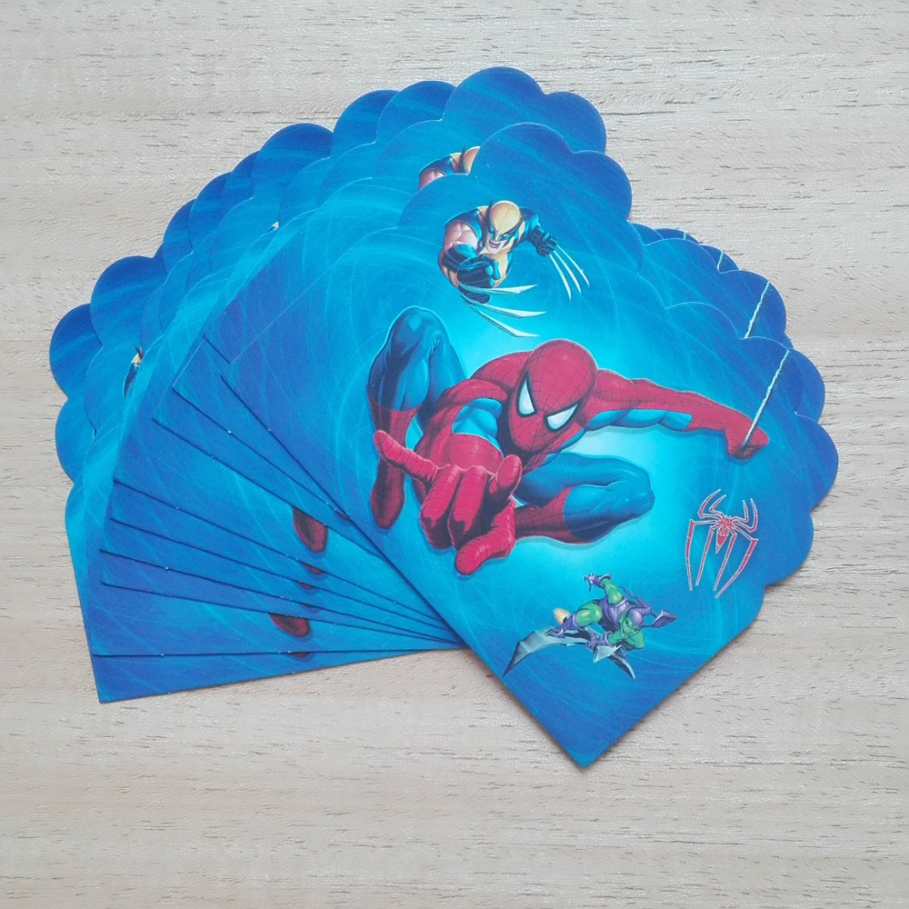 10 Teil/los Spiderman Party Liefert Einladungskarte Kinder Birthday Party  Supplies Und Spider Man Party