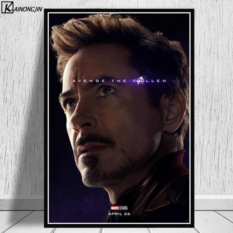 Posters and Prints Avengers Marvel Poster EndGame Movie Iron man Loki Spider Man Thor Canvas Painting Wall Art  Room Home Decor