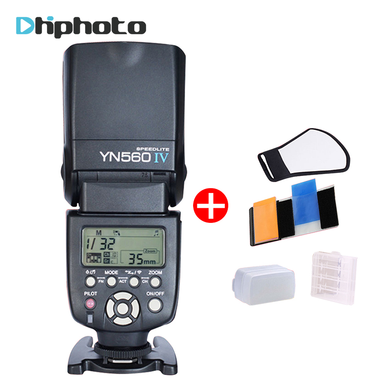 YONGNUO YN560 IV YN560IV Universal Wireless Master Slave Flash Speedlite for Nikon Canon Olympus Pentax DSLR Camera 4 Free Gifts yongnuo yn560 iv yn560iv wireless master slave flash speedlite for canon nikon pentax olympus fujifilm panasonic dslr cameras