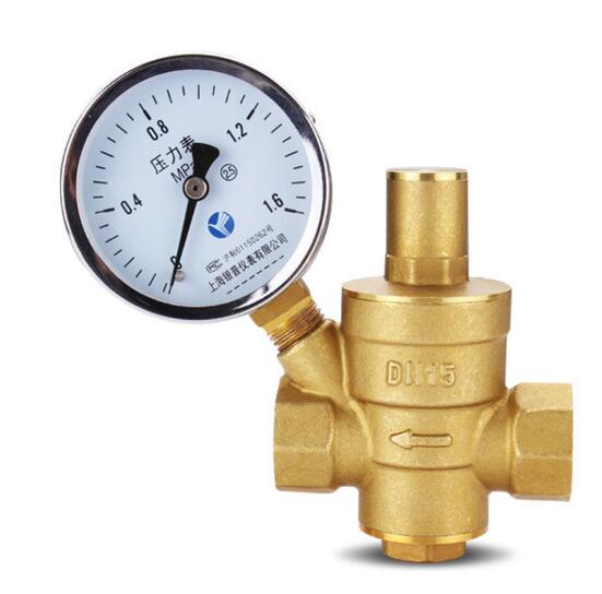 2'' Brass DN50 water pressure regulator with pressure gauge,pressure maintaining valve,water PRV pressure reducing valve купить в Москве 2019