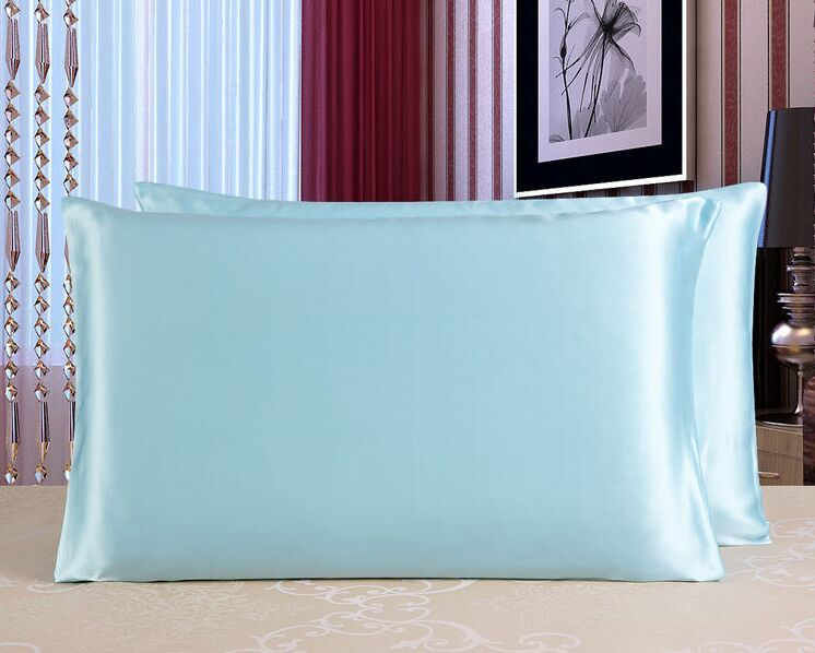 Howmay 16m/m silk pillowcase 100% pure silk satin charmeuse fabric double side 20*30 inch standard queen size 51cm*76cm