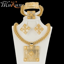 MuKun turkish jewelry african beads jewelry sets for women wedding crystal big necklace in jewelry earrings bracelet ring sets недорого