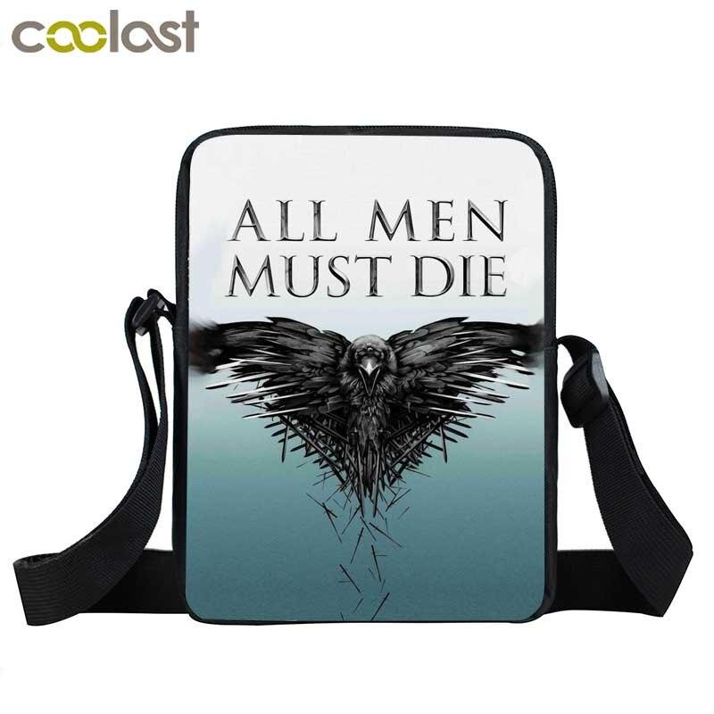 3e3e2660ce8d Валар моргулис/Волк, дракон мини сумка ночные часы Сумка для женщин мужчин  сумки повседневные