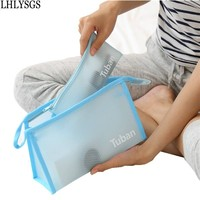 2 Pcs Set New Transparent Waterproof PVC Travel Kit Storage Toiletry Bag Women Travel Cosmetic Bags