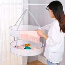 купить Windbreak clothes drying basket folding clothes drying net single double three-layer clothes drying rack wholesale дешево