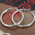 E149 Wholesale Silver plated earrings,  silver fashion jewelry, 5MM Hollow Earrings /aqrajhyarz