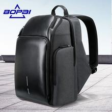 """BOPAI Zaino da viaggio multistrato per uomo Zaino da carico ricaricabile USB per grande capacità Zaino portatile da 15.6 """"maschio funzionale"""