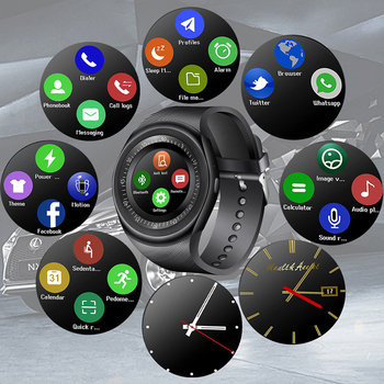 2018 New Smart Watch Men LED Color Touch Screen Sport Pedometer Bluetooth Smart Watch Support SIM Relogio inteligente  meanit m5