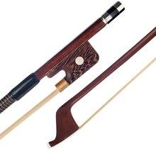 Двухсторонний басовый лук 3/4 4/4 вертикально французский стиль бразильское дерево Парижские глаза круглая палочка бас для скрипки