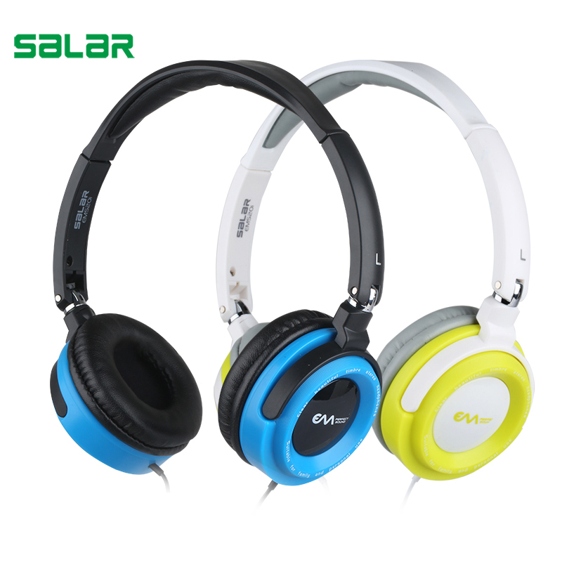 Salar EM520i Foldable Headphones Studio Professional DJ Headphone with Mic Monitor Studio wired Headphones DJ Stereo Headsets superlux hd668b professional studio standard headphones