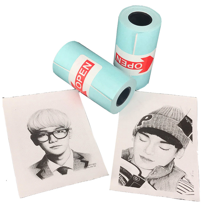 цена на 3 Rolls Printing Paperang Sticker Paper White and Black Adhesive Photo Paper for Mini Pocket Photo Printer Paperang 57mm