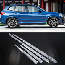 Car Accessories Exterior Decoration ABS Side Door Car Body Molding Strips Cover Trim For BMW X3 2018 Car Styling недорго, оригинальная цена