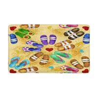 Flip Flops Watercolor Indoor Doormat Non Slip Front Entrance Door Mat Rug hall mat entrance mat namaste kitchen mat set