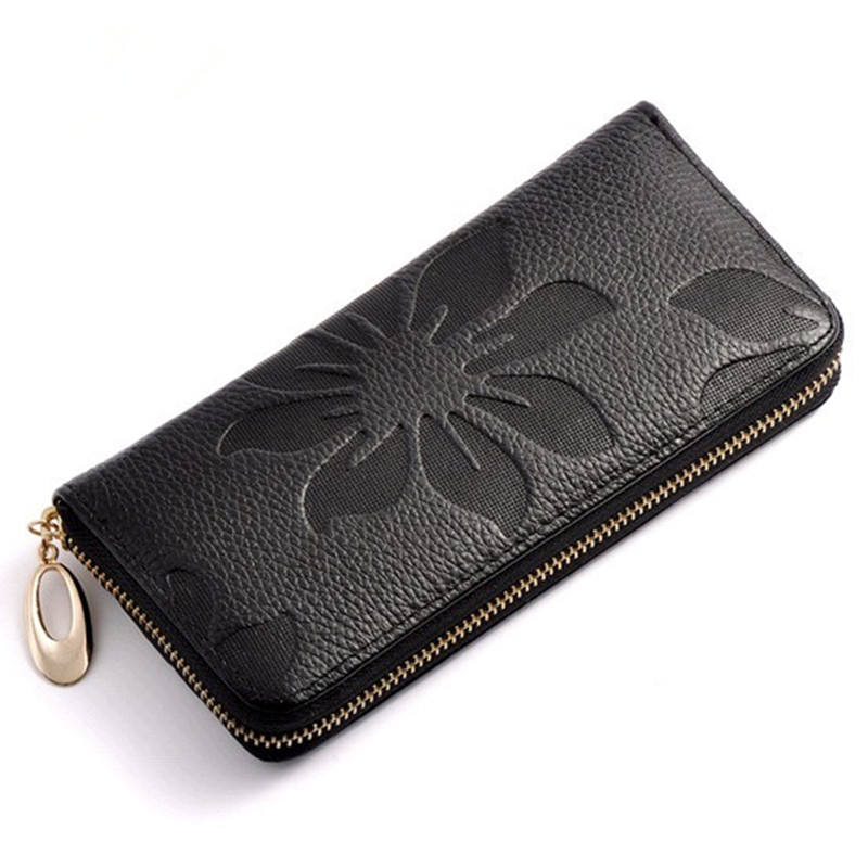 Luxury Brand Genuine Leather Women Wallet Female Coin Purse Small Credit Card Holder Lady Clutch Perse Red long walet fashion women leather wallet clutch purse lady short handbag bag women small purse lady money bag zipper luxury brand wallet hot