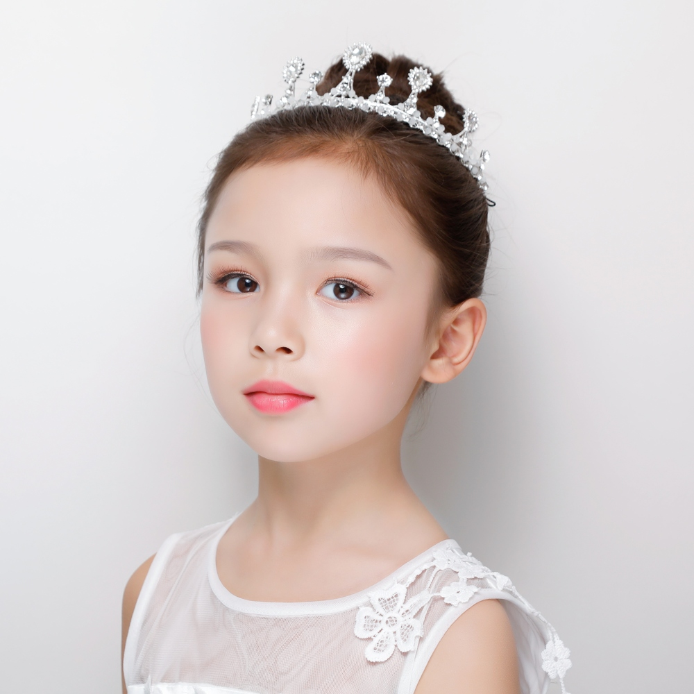 Fashion Headband Princess Crown Rhinestone Crystal Tiara Hairband Kid Girls Pageant Party Gifts Decoration Tool Accessiories New baby hairband crystal tiara hairband kid girl bridal princess prom crown party accessiories princess prom crown headband