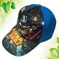 Hot! Chegam novas Moda Star Wars Snapback Tampões de Algodão Chapéus Para Criança Crianças Menino de Verão Ao Ar Livre Boné de Beisebol Dos Desenhos Animados Boné de Beisebol