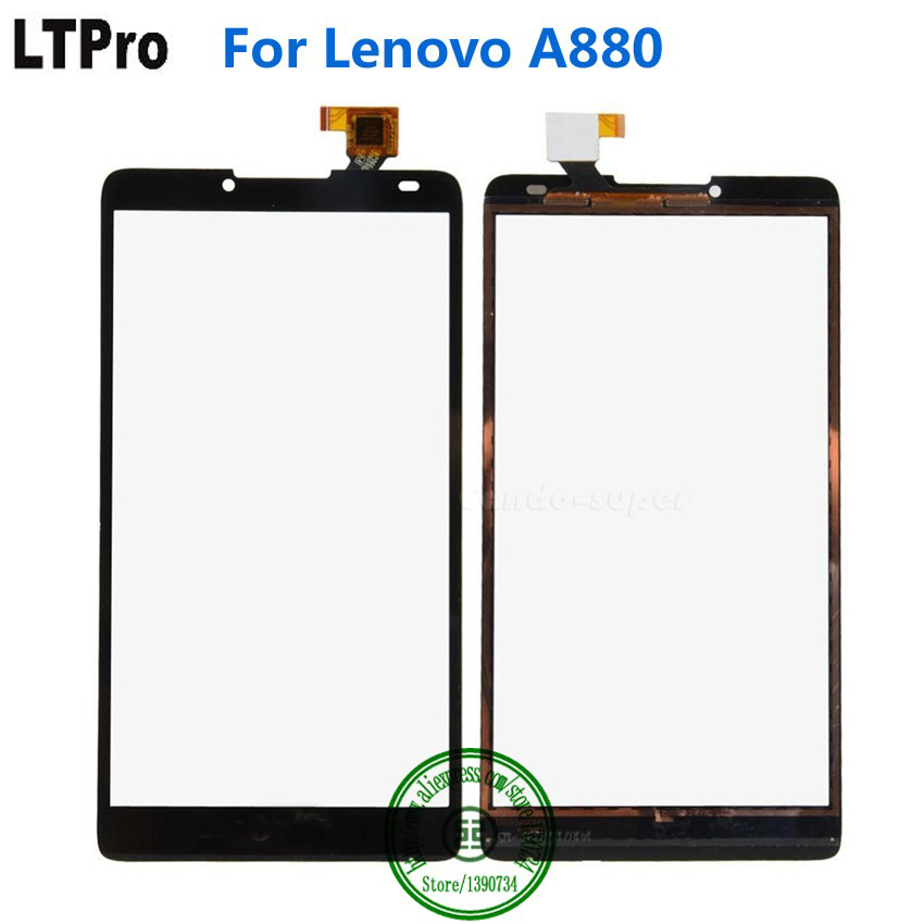 LTPro ToP Quality Tested Working Black Outer Glass Panel Touch Screen Digitizer For Lenovo A880 Mobile Phone Replacement Parts