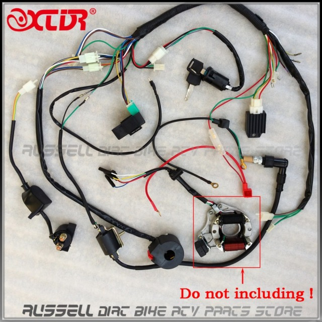 aliexpress com buy full electrics wiring harness cdi eton 50cc atv wiring diagram