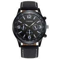 OUKESHI Men Business Watch Top Brand Luxury Casual Leather Wristwatch 30M Waterproof Male Clock Quartz Watch
