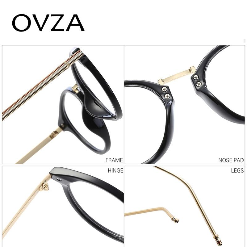 83fc5b3b767 OVZA 2018 Oval Glasses Frames Women Ultra light TR90 Optical Frame Men High  Quality Fashion Reading Glasses Transparent S9064-in Eyewear Frames from  Apparel ...