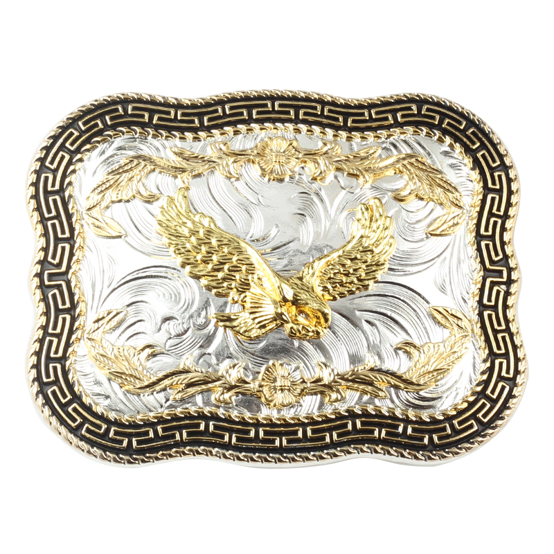 Golden Eagle Big Western Style Belt Buckle Decoration Belt Accessories DIY Belt Buckle For 3.8 CM Width Of The Belt
