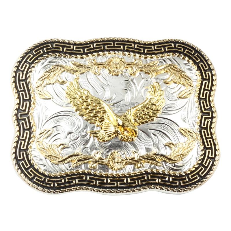 Golden Eagle Big Western Style Belt Buckle Decoration Belt Accessories DIY Belt Buckle For 3.8 CM Width Of The Belt