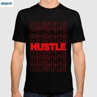 GILDAN Hustle Thank You Plastic Bag Typography For Men T Shirt