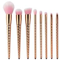 8PCS Sets Kits Cosmetic Makeup Brushes Professional Eyebrow Eye Shadow Eyeliner Brush Foundation Blush Make Up