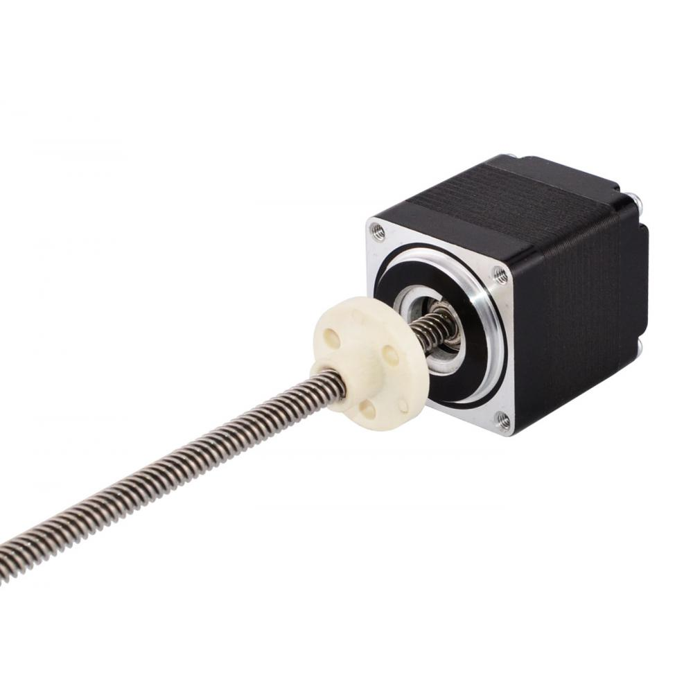 Nema 11 External Stepper Motor Linear Actuator 32mm Stack 0.42A Lead 0.635mm/0.025 with Lead Screw Length 150mmNema 11 External Stepper Motor Linear Actuator 32mm Stack 0.42A Lead 0.635mm/0.025 with Lead Screw Length 150mm
