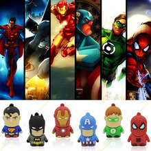 usb flash drive Super Hero pen drive cartoon hot sale usb stick cute mini pendrive 2G 4G 8G 16G  U disk flash card Freeshiping