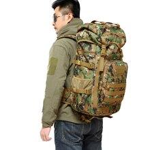 Heißer Verkauf Männer 50L Military Armee Tasche Männer Rucksack Hochwertigen Wasserdichtem Nylon Laptop Rucksäcke Camouflage Taschen Kostenloser Versand