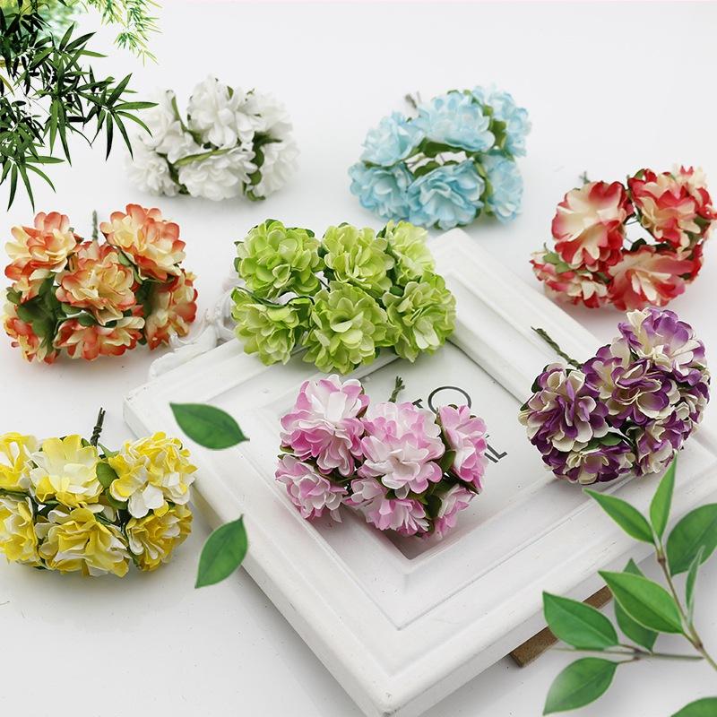 unids caja de regalo mini clavel de papel ramo de flores para decoracin