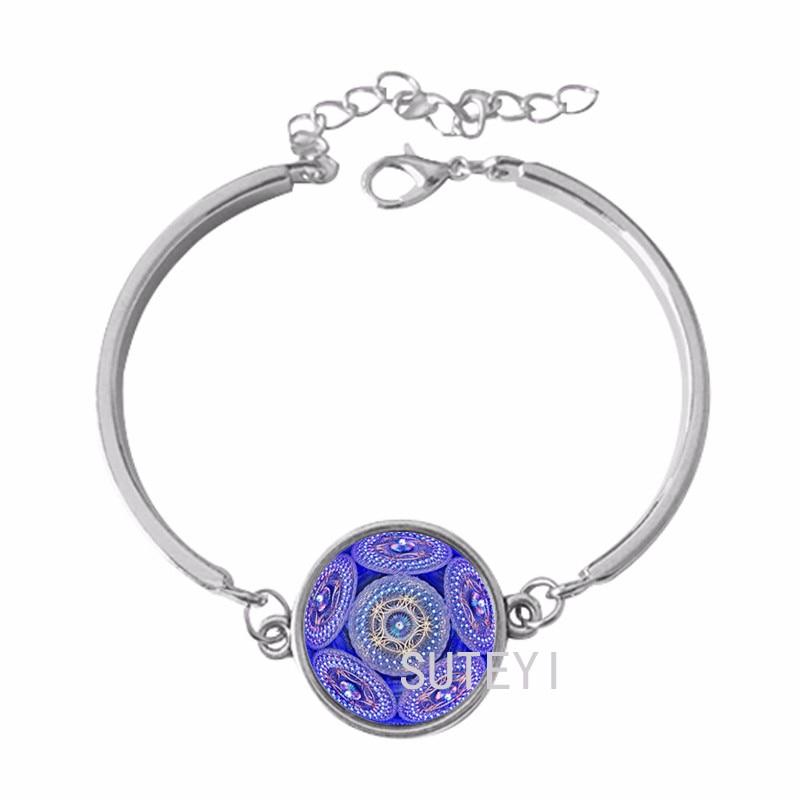 CAB9 für Kim lotus armband henna yoga armband dome glas frauen armband