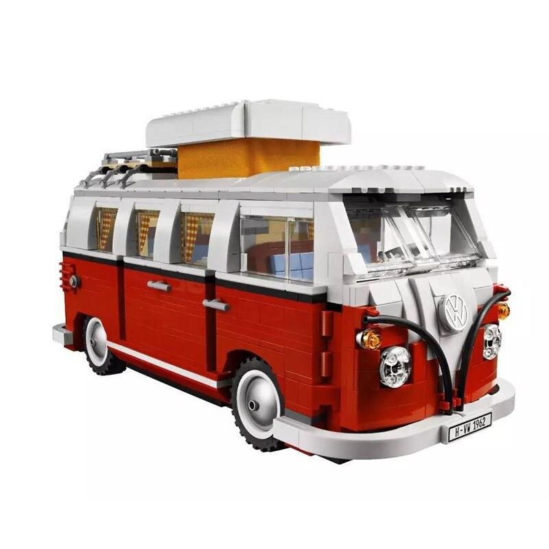 Nuova Volkswagen T1 Camper Van Modello Kit di Costruzione Giocattoli Dei Mattoni Compatibile con <font><b>LegoINGly</b></font> <font><b>Technic</b></font> Car dropshipping