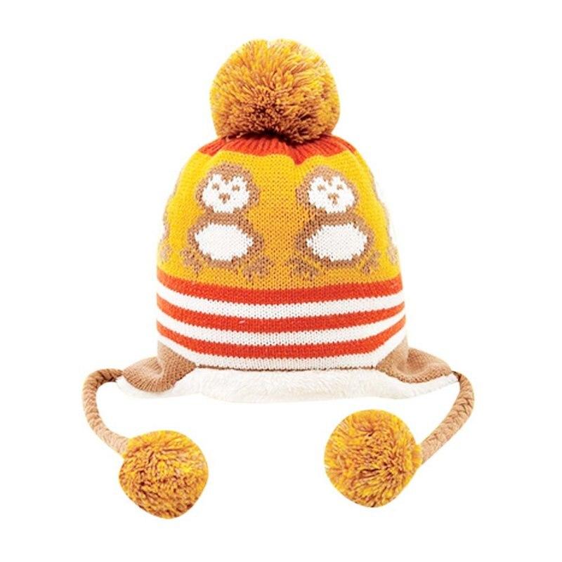 Детская шапка милый пингвин новорожденный шляпа Детские красочные детские зимние вязать Детские Hat новых